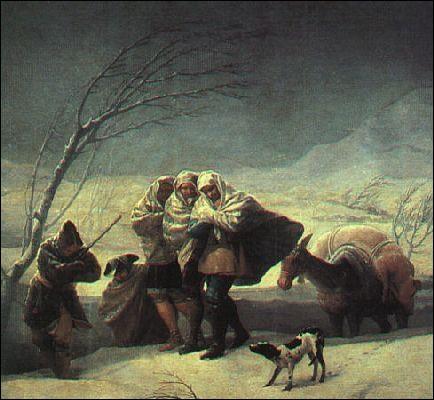 Qui a peint Tempête de neige ?