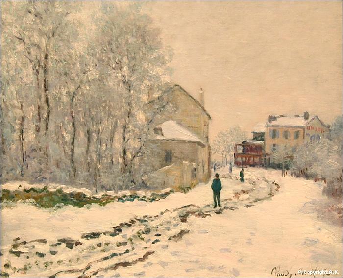 Qui a peint Neige à Argenteuil ?
