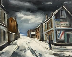 Qui a peint Village enneigé ?
