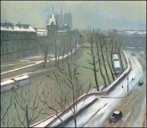 Qui a peint Quai des Augustins sous la neige ?
