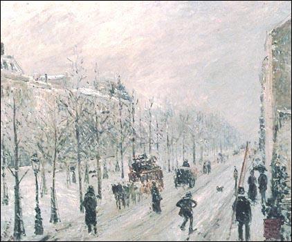 Qui a peint Les boulevards extérieurs effet de neige ?