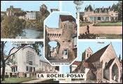 Je vous envoie une carte postale de La Roche-Posay. Ses habitants portent le gentilé ...