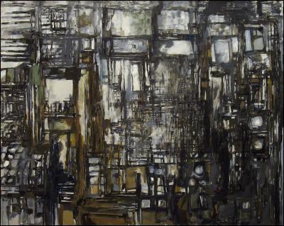 Le Grand Atelier, 1958 par l'un des chefs de file du mouvement esthétique dit du paysagisme abstrait (1908-1992) d'origine portugaise.