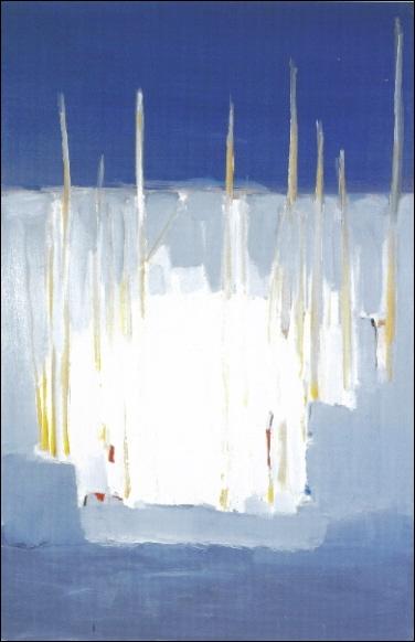Les mâts, 1955 par un peintre français d'origine russe qui mourut à 41 ans en se jetant par la fenêtre de son atelier d'Antibes (1914-1955).