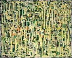 Les hautes Herbes, 1951 par un peintre et un graveur belge, né en 1927, qui réunit dans son œuvre expressionnisme et surréalisme.