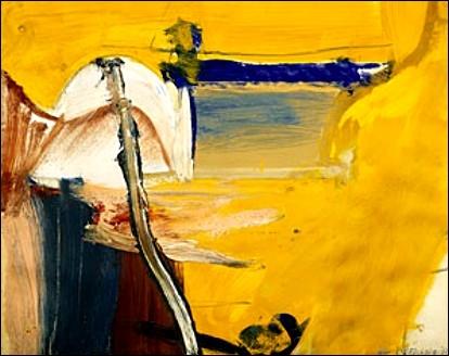 Sans titre, 1968 par un peintre d'origine néerlandaise, naturalisé américain, initiateur de l'expressionnisme abstrait.