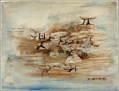 Composition , 1954 par un peintre français d'origine chinoise, né en 1921.
