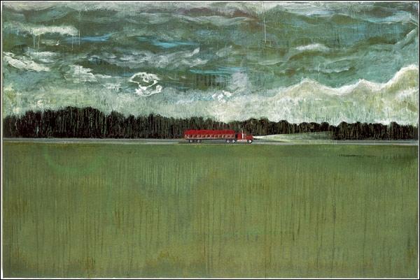 Hitch Hiker, 1989-1990 par un peintre britannique d'origine écossaise né en 1959 et vivant depuis 2002 à Trinidad.