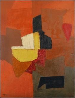 Cette Composition à dominante rouge, 1953 d'un peintre français d'origine russe a été été adjugée aux enchères à Paris pour 603 200 euros en juin 2007.