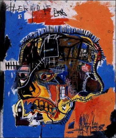 Scull , 1981 par un peintre américain d'avant-garde d'origine haïtienne et portoricaine, pionnier de la mouvance underground (1960-1988).