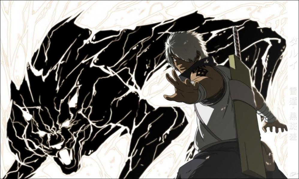 Qui est ce personnage qui est le bras droit du raikage et son élément est le Ranton ?