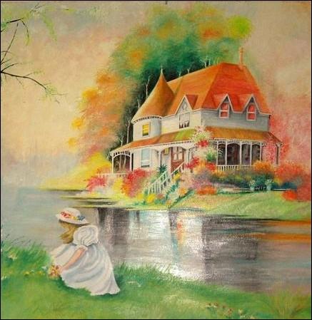 C'est la maison de son enfance ... .