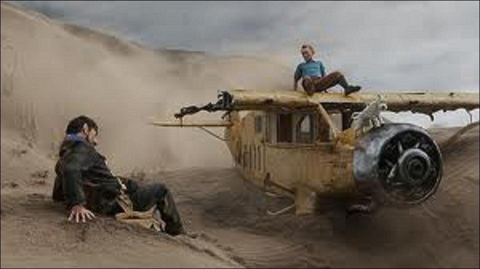 Dans  Tintin et le secret de la Licorne , Tintin et Haddock s'écrasent en avion dans le désert, ils viennent de quitter un navire qui s'appelle :