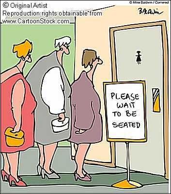 L'inconvénient de ce métier : si vous avez une envie pressante, vous devez vous retenir très longtemps avant de pouvoir accéder aux toilettes (sinon, quelqu'un aura une douche surprise... )