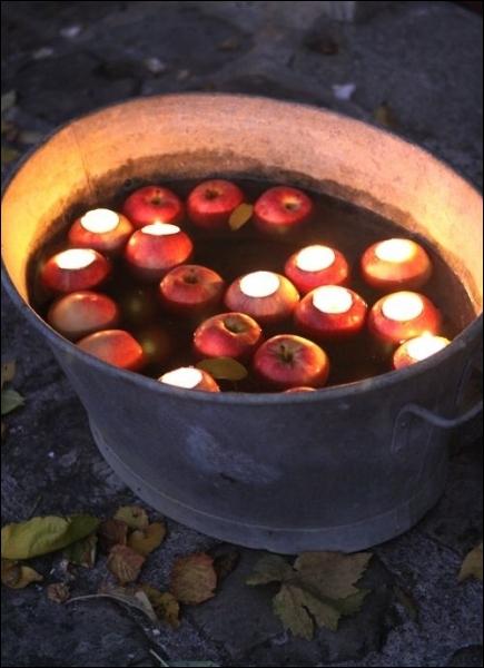 Quand le soir tombe, la lumière qui provient de ces lumignons est presqu'inquiétante car elle va vaciller au fil de l'eau. Quel objet compose les lumignons ?