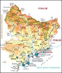 Quelle ville est située dans le département des Alpes-Maritimes ?