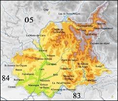 Quelle ville est située dans le département des Alpes-de-Hautes-Provence ?