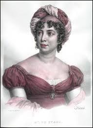 D'une intelligence précoce, madame de Staël fréquenta dès son jeune âge le salon de sa mère, pour ouvrir le sien plus tard. Madame de Staël fut aussi...