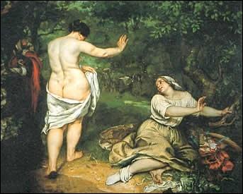Qu'aurait dit l'impératrice Eugénie, choquée par la nudité non conformiste de la toile  Les baigneuses  de Gustave Courbet, en faisant allusion aux formes robustes du modèle ?
