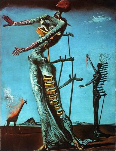 Qui a peint cette  Girafe en feu , visible au musée des Beaux-Arts de Bâle ?
