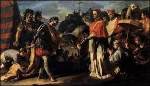Sévèrement battu en Gaule, Attila parvient néanmoins à reconstituer son armée et décide de s'attaquer au Nord de l'Italie quelques mois plus tard. Il ravage et pille de nombreuses villes jusqu'à menacer Rome. Quelle personnalité l'Empereur d'Occident Valentinien III charge-t-il de négocier la paix avec Attila ?