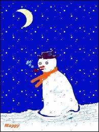 Dans son poème  l'hiver , Prévert écrivait  Dans la nuit de l'hiver galope un grand homme blanc, c'est un bonhomme de neige...   Qu'avait-il de particulier ?