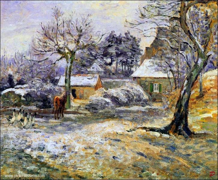 Qui a peint Neige à Montfoucault ?
