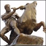A quel roi légendaire appartenait le taureau crétois qu'Héraclès a dompté pour accomplir son septième travail ?