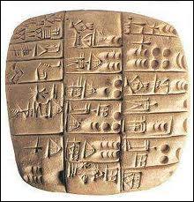 Il y a plus de 5000 ans en Mésopotamie, les Sumériens mettaient au point un système d'écriture. Comment qualifie-t-on cette graphie particulière ?