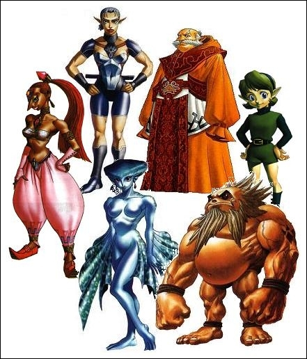 Dans  Ocarina of Time , comment s'appellent les six sages d'Hyrule et de quoi sont-ils les sages ?