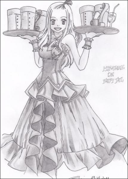 Comment se nomme la serveuse de la guilde, ancienne mage de rang S ?