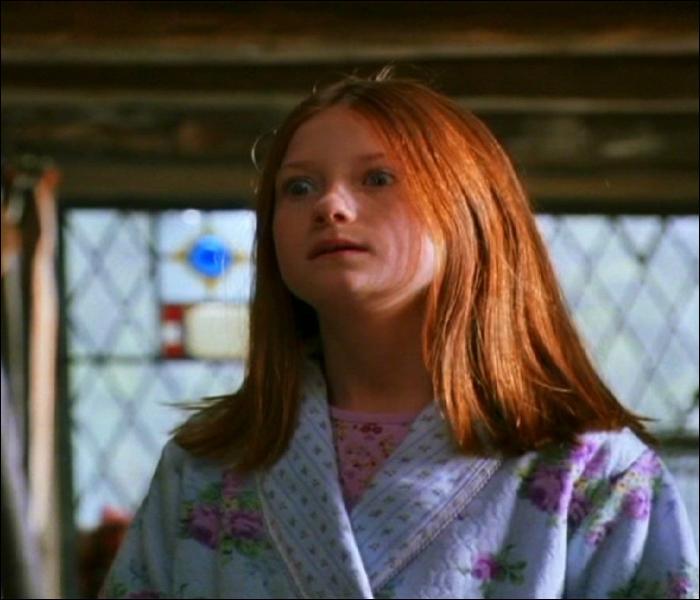 Quelle définition correspond le mieux à Ginny en présence de Harry ? (HP1, HP2 et HP3)