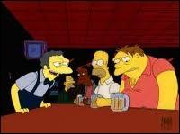 Quand Homer est allé dans l'espace, il a fait une compétition avec un de ses amis ? Lequel était-ce ?