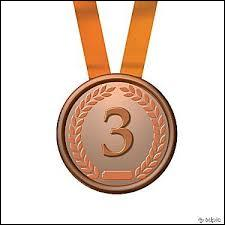 Qui a eu la médaille de bronze ?