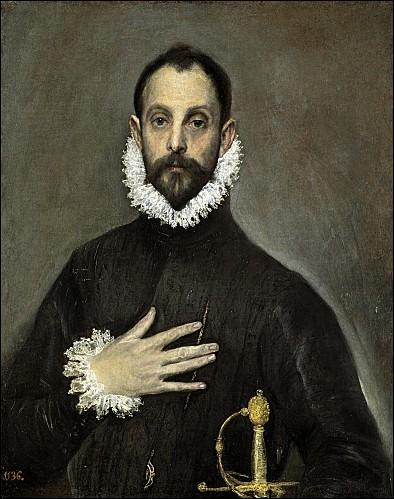 Chevalier avec la main sur la poitrine - 1580