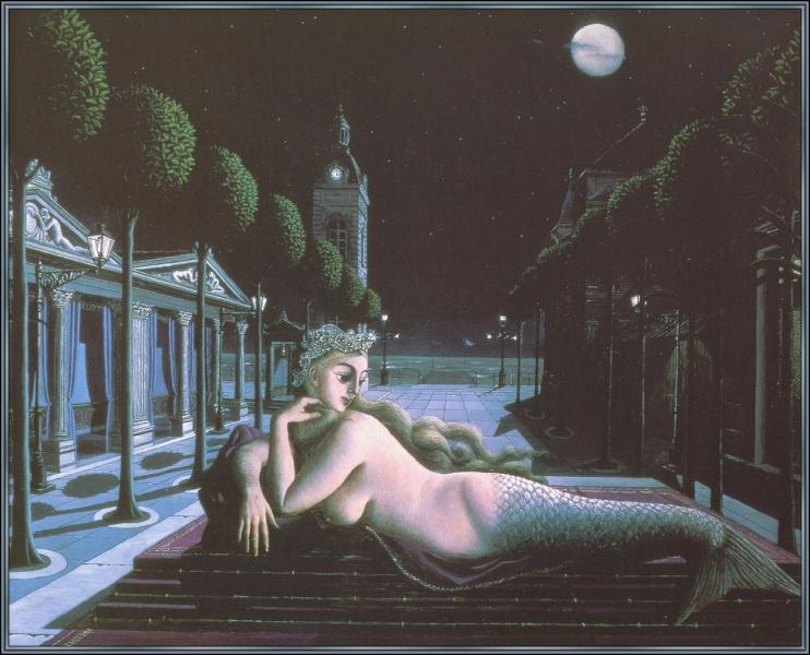 Une sirène sous la pleine lune  est un tableau à l'ambiance sombre et presque magique de... ?