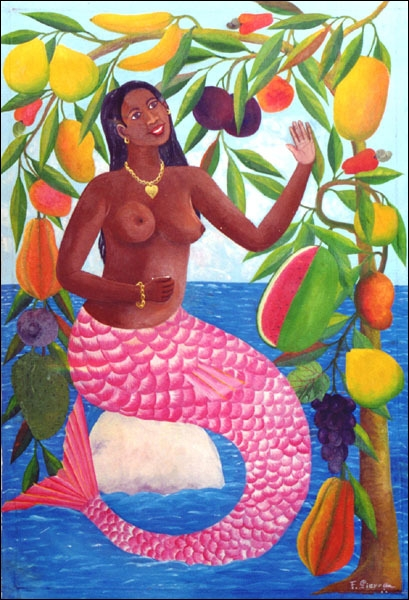 La sirène et l'arbre aux fruits  est une oeuvre très joyeuse et colorée, qui appartient . . ?