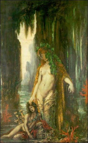 Poète et sirène , qui déifie majestueusement la sirène aux grandes proportions, est une oeuvre du peintre ?