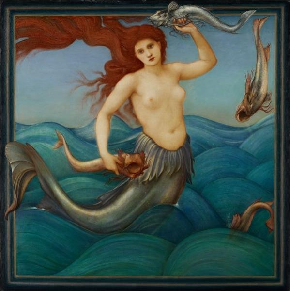 Edward Burne Jones a peint ici une rousse sirène, dans le style qui le fait appartenir à quel grand mouvement ?