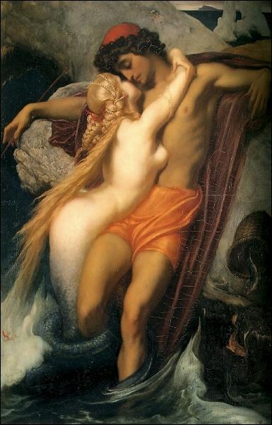 C'est  La sirène et le pêcheur , lequel n'a aucune chance, à plusieurs points de vue : notez la queue de la sirène, qui s'est déjà refermée sur sa proie. C'est un tableau de ?