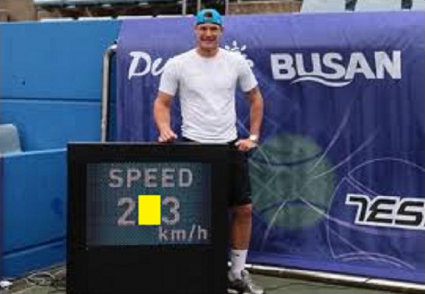 Le précédent record de vitesse au service en tennis sur une première balle était en possession du croate Ivo Karlovic à 251 km/h. Quel est le nouveau record établi par l'australien Samuel Groth ?