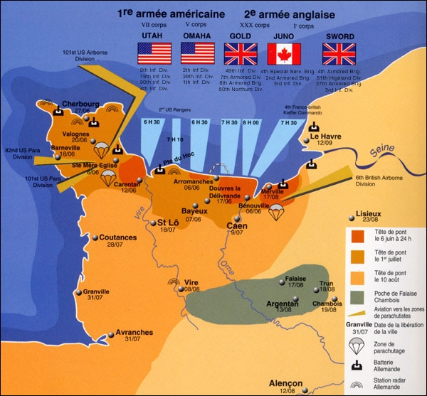 À quelle date le débarquement en Normandie eut-il lieu ?