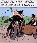 Pourquoi est-il impossible que Tintin ait atteint le taxi peu après cette case ?