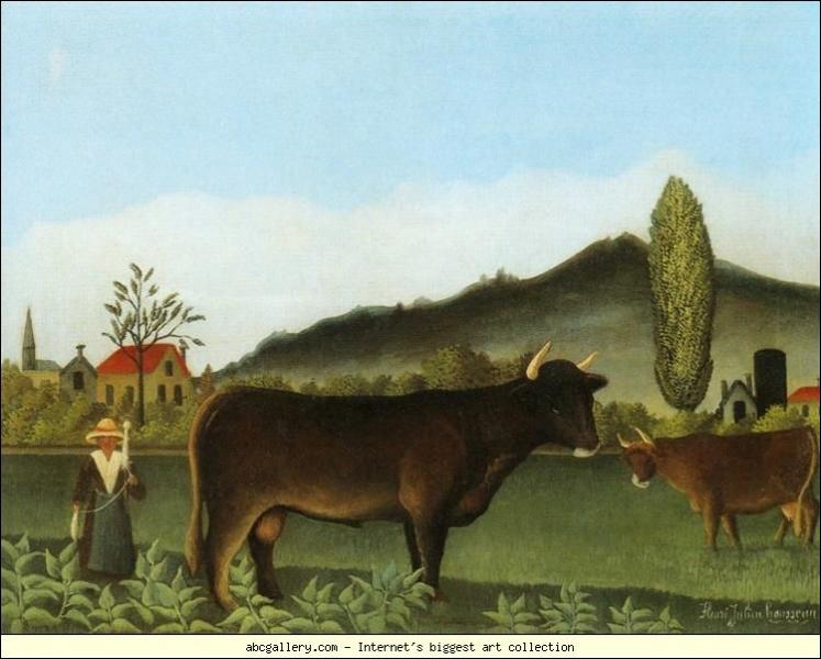 Qui a peint Paysage avec vache ?