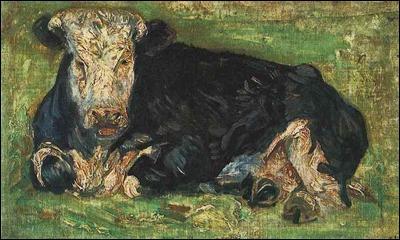Qui a peint Vache allongée ?