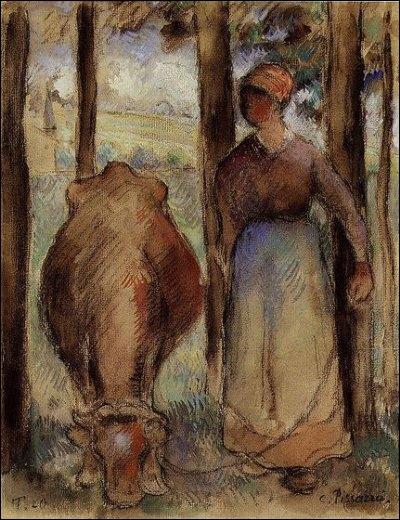 Qui a peint La gardeuse de vache ?