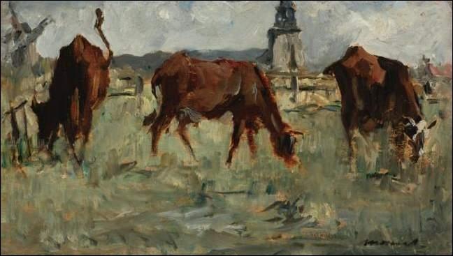 Qui a peint Vaches au pâturage ?