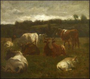 Qui a peint Les vaches au repos ?
