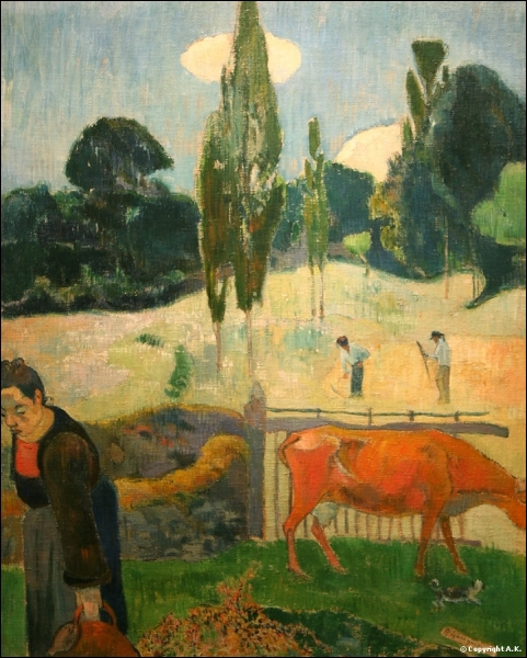 Qui a peint La vache rouge ?