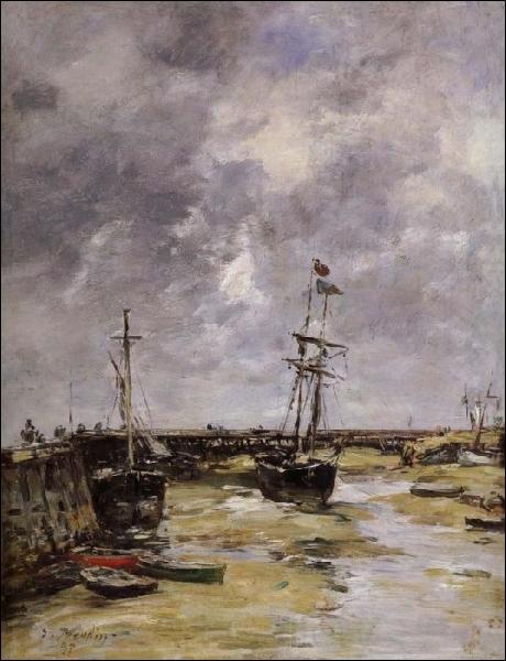 Qui a peint  Port de Trouville à marée basse  ?